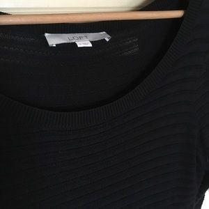 Semi sheer, 3/4 sleeve length sweater shirt